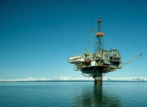 Off shore gas platform